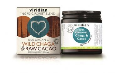 100% Organic Wild Chaga and Raw Cacao 30g